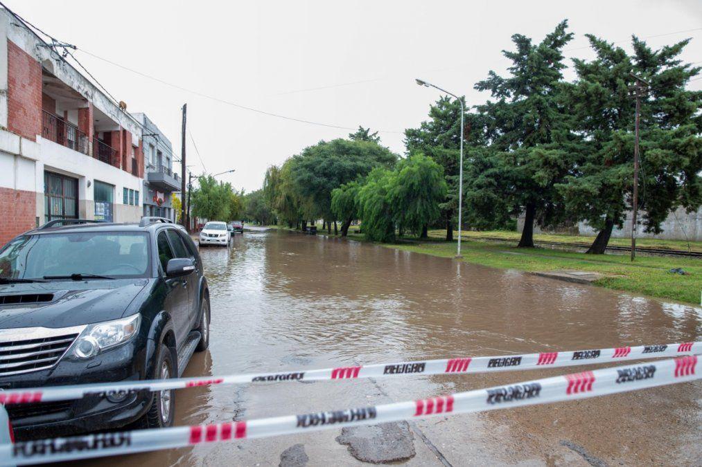 Así se vieron las calles de Villa María con la lluvia.