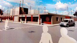 La nueva imagen que ofrecería la sede social de Alumni en Mendoza y Martínez Mendoza. Adrián López también deslizó la posibilidad de gestar un primer piso.