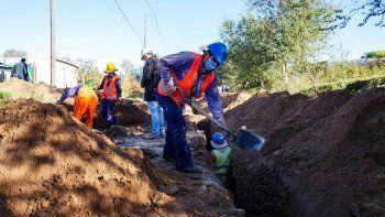 La red de cloacas de barrio Alberdi ya tiene un avance de obra superior al 40 por ciento