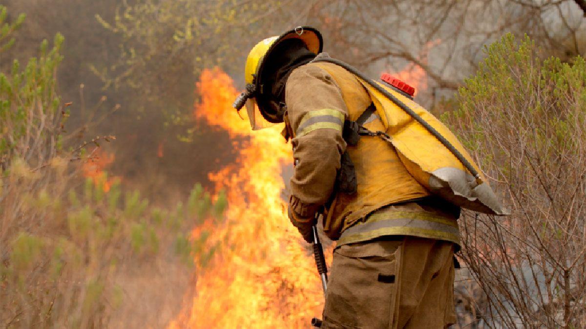 El fuego avanzaba a unos 18 kilómetros de Río de los Sauces