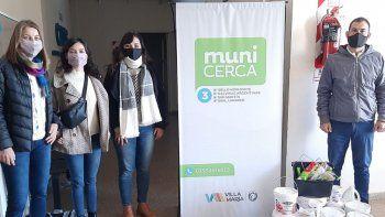 Donaron pinturas, pinceles y rodillos al MuniCerca 3 Villa María