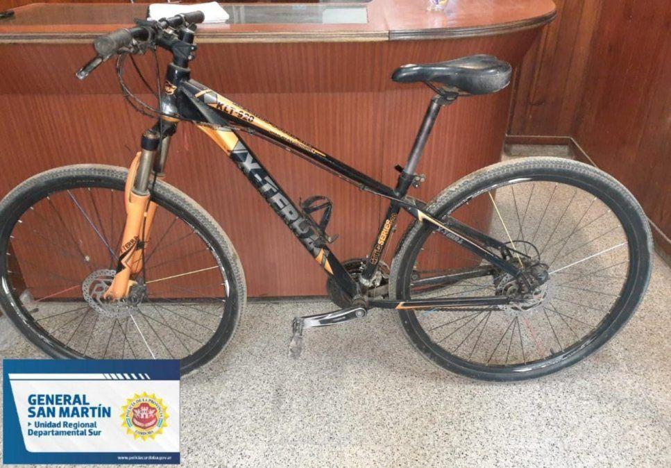 Recuperaron una bicicleta que habían robado bajo amenazas