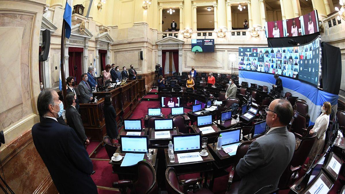 La Cámara de Senadores sesionó ayer por primera vez en el año.