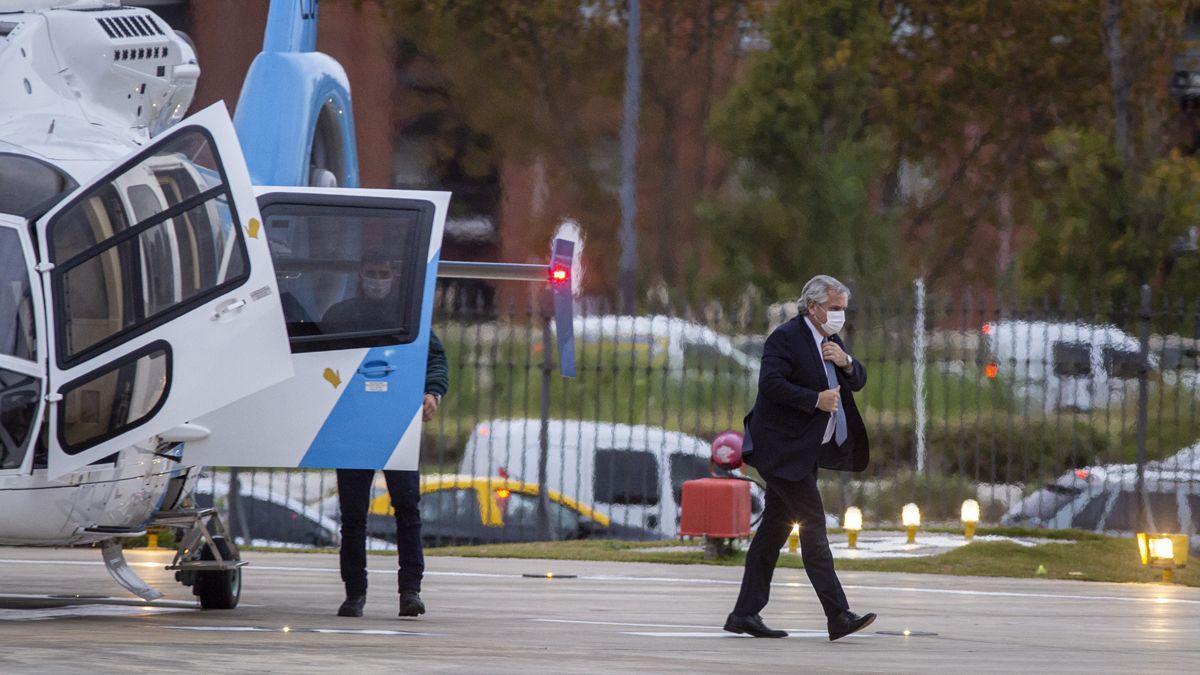 El Presidente llegó a Casa Rosada