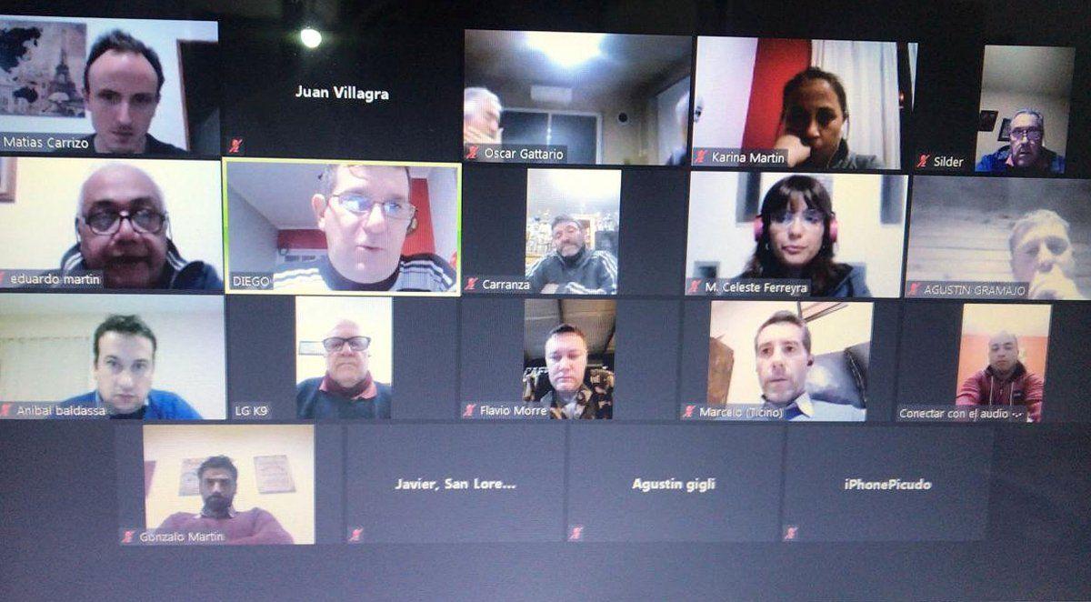 Los delegados que participaron en la reunión vía Zoom del Consejo Directivo de la Liga.