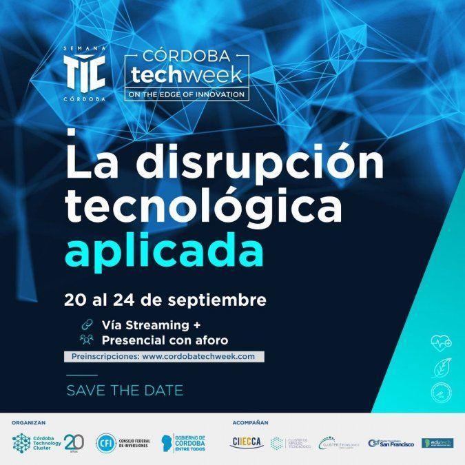 Realizarán la 9° edición de Semana TIC y 2° del Córdoba Tech Week