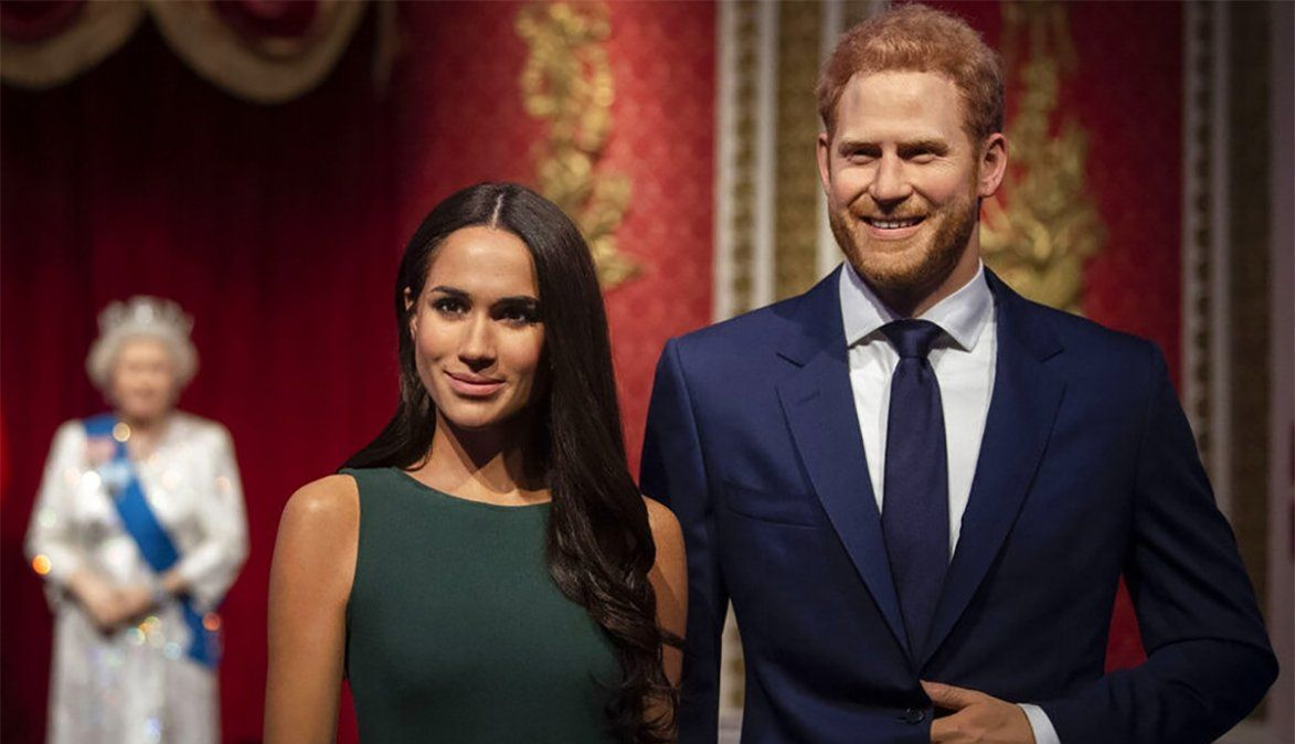 Las estatuas del príncipe Harry y Meghan Markle fueron retiradas del sector del Museo de Cera dedicado a la realeza. (Fuente: Milenio)