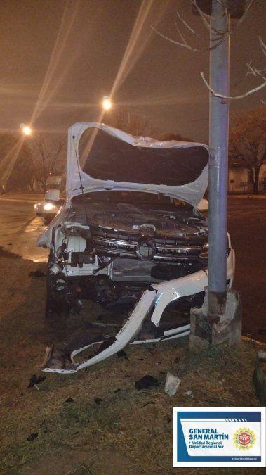 Un hombre sufrió lesiones graves por un accidente