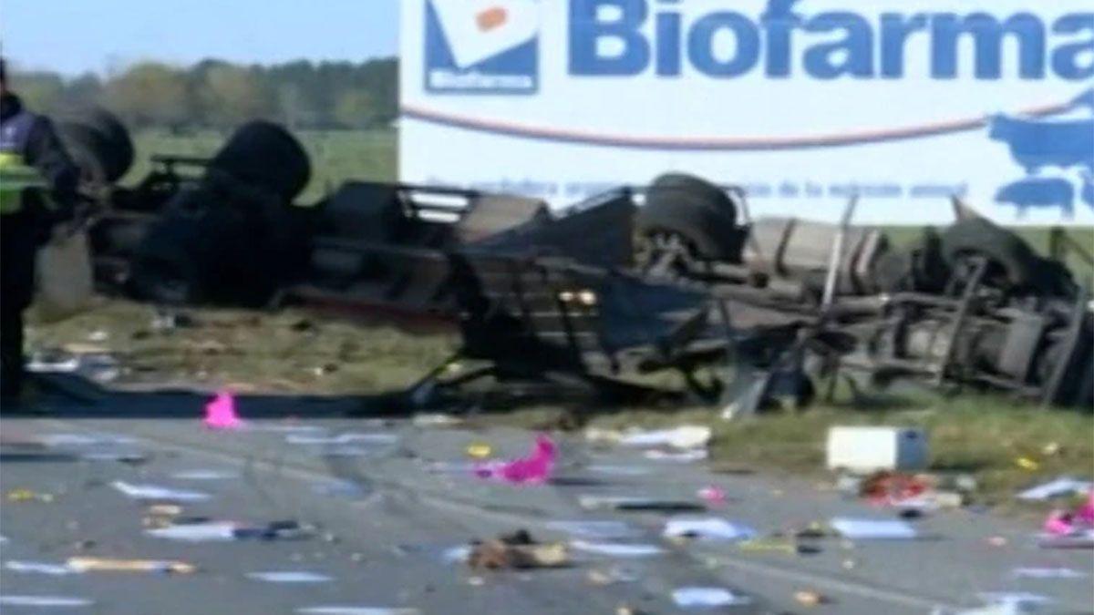 El accidente ocurrió pasadas las 3.30 en el kilómetro 96 de la ruta 2.