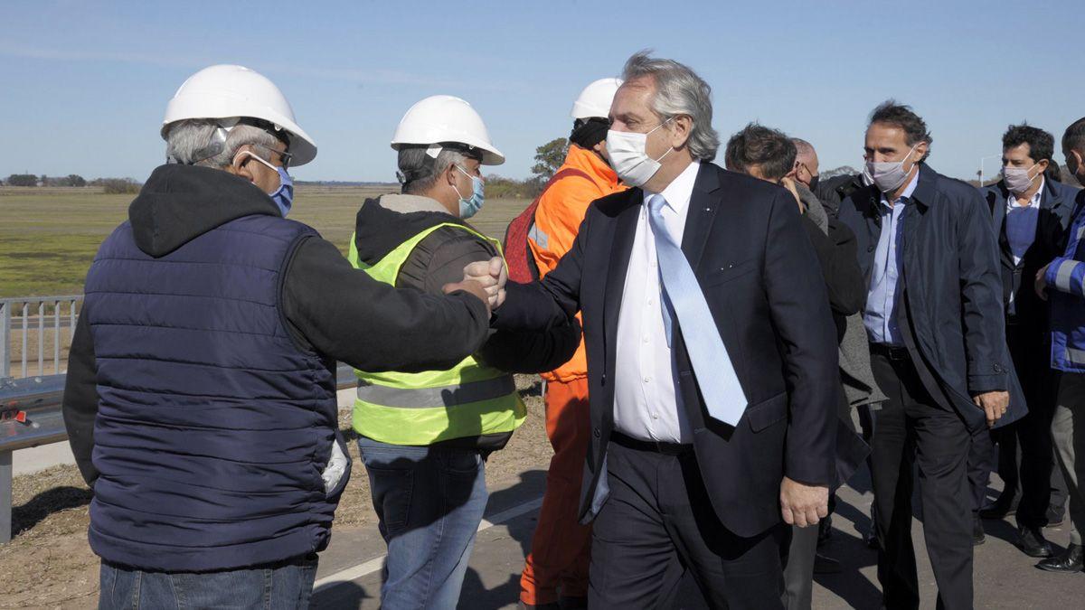 El presidente Alberto Fernández encabezará hoy el acto de inauguración de la variante Pergamino de la Ruta Nacional 8.
