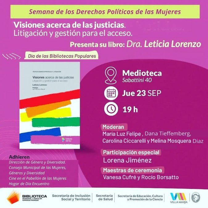 La jueza Leticia Lorenzo redacta fallos en lenguaje inclusivo.