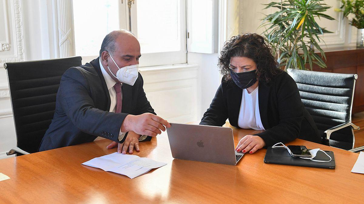 Manzur repasa las cifras de la pandemia antes de la conferencia donde realizarían anuncios con la ministra Vizzotti.