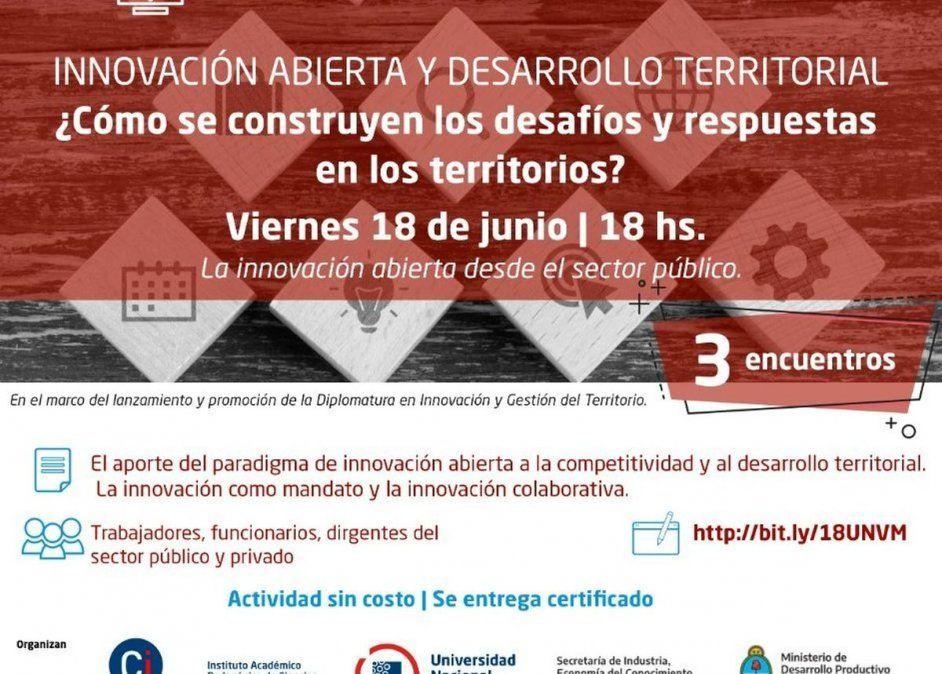 Capacitarán sobre innovación y desarrollo territorial