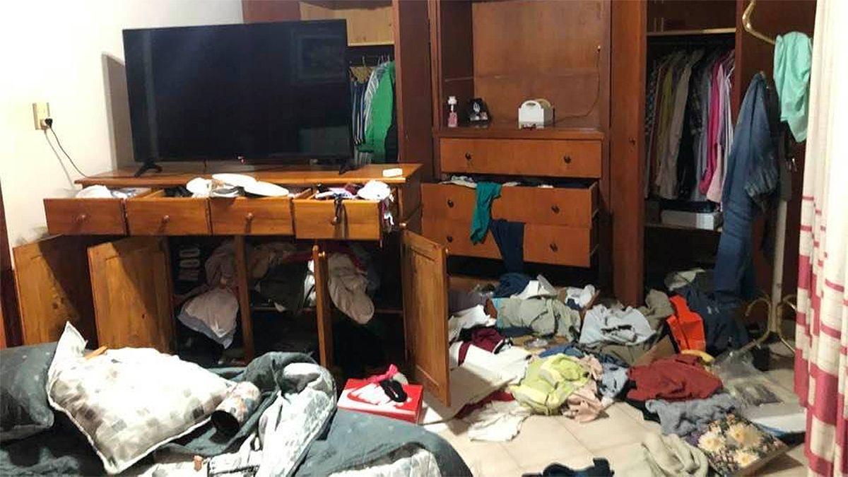 Una de las imágenes que compartió Barbero en las redes tras el robo en la casa de su padre.