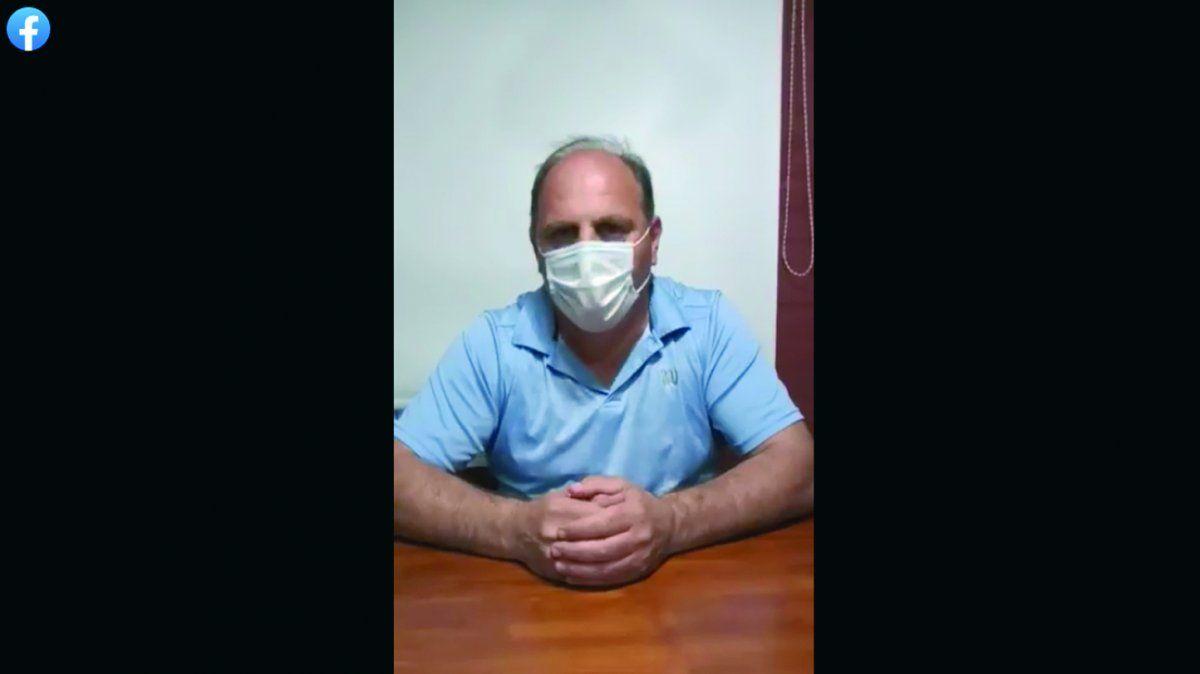 El intendente de Arroyo Cabral, Pablo Acalino, confirmó que es Covid positivo