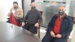 El intendente de General Cabrera, Marcos Carasso; el secretario de Salud, Daniel Giorcelli, y el director del Hospital municipal, Pablo Pognante, se ofrecieron como donantes de plasma.