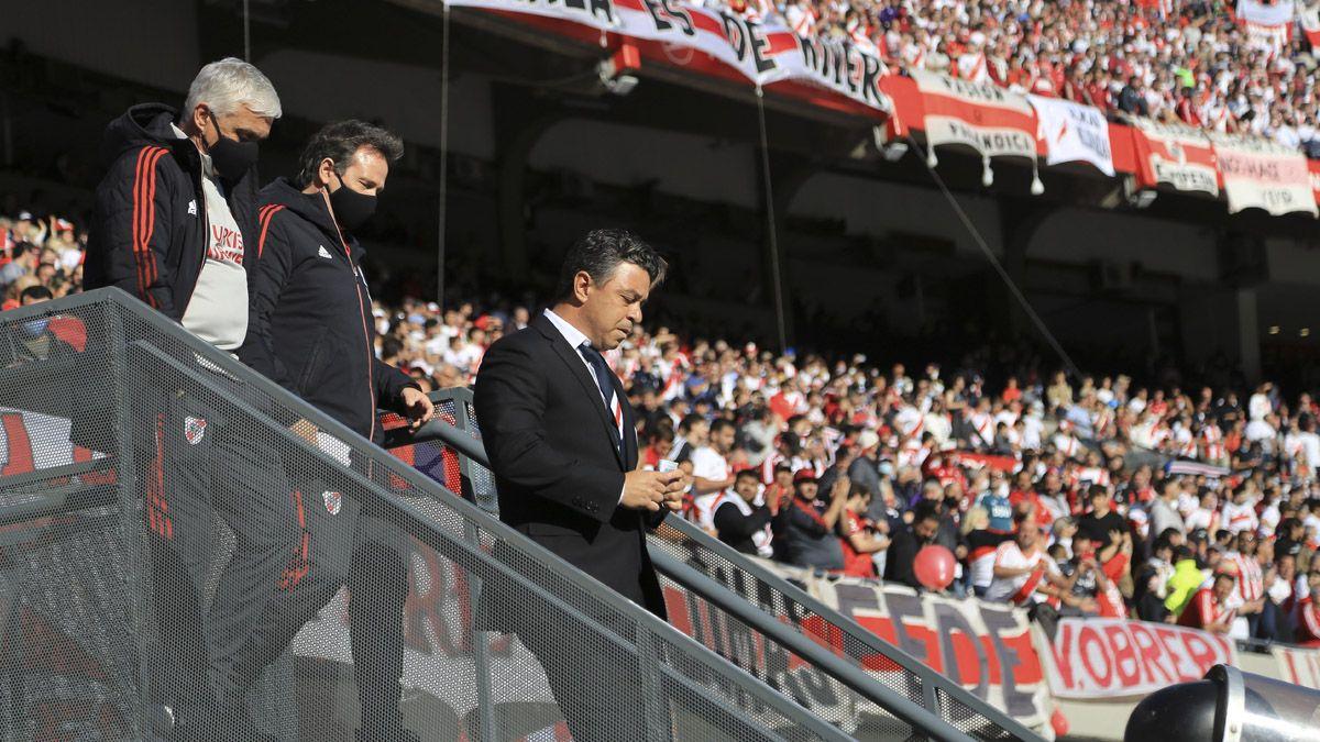 El equipo dirigido por Marcelo Gallardo recibió el aliento de su gente.