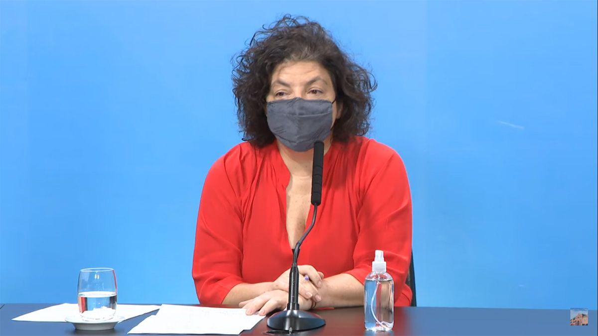 Vizzotti también informó que el aumento de casos de coronavirus se detuvo aunque destacó la necesidad de profundizar esa baja.