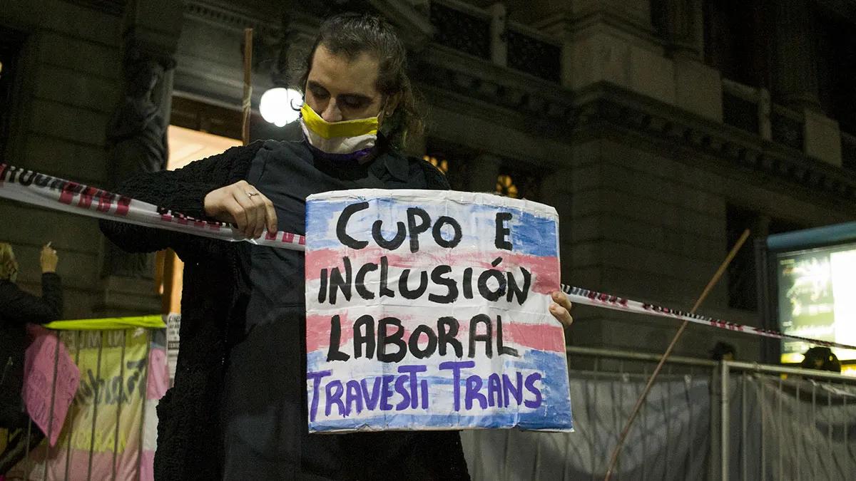Diputados le dio media sanción a la ley de inclusión laboral trans.