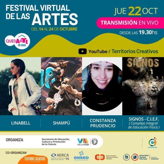 Este jueves, la sexta noche del Festival de Artes