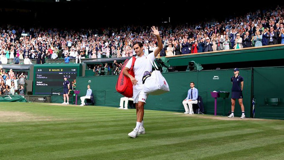 Federer se despidió de Wimbledon