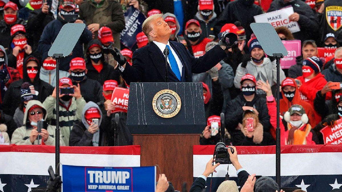 Donald Trump está a la defensiva en los estados que le dieron la victoria hace cuatro años.