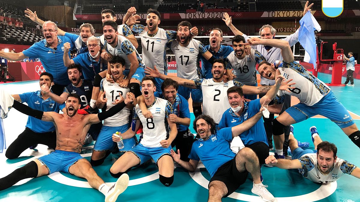 Argentina ganó la medalla de bronce en vóley