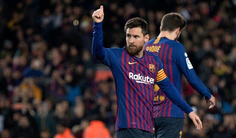 Messi marcó un gol en el triunfo del Barcelona ante Eibar y llegó a 400  en la Liga de España