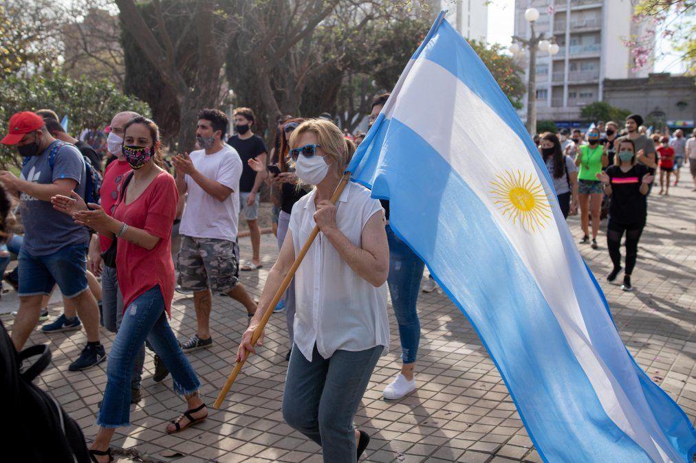 Gran convocatoria de las protestas en Villa María