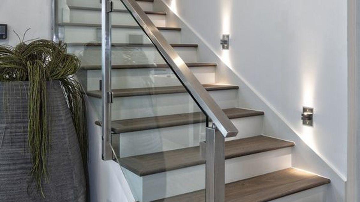 Las barandas de cristal aportan un diseño moderno - Imagen Pinterest.