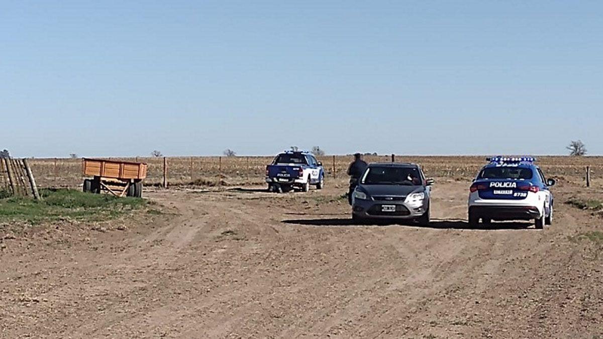 El auto con los sospechosos fue interceptado en la zona rural de Ucacha.
