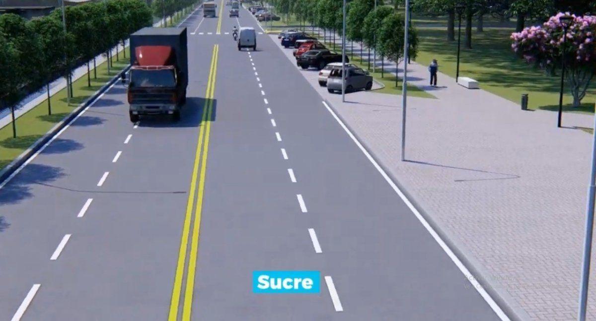 Así se vería Avenida Sucre.