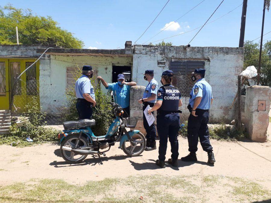 La cúpula policial recorrió  la ciudad