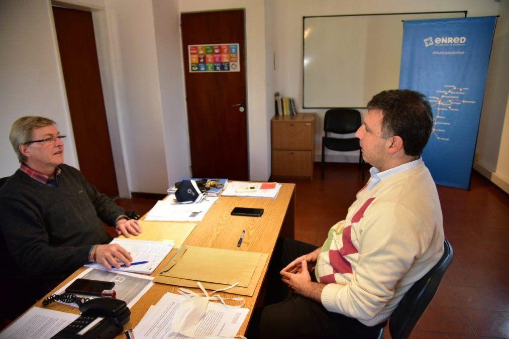 José Carignano (EnRed) y Pablo Rosso (presidente del Concejo Deliberante a cargo del Ejecutivo).