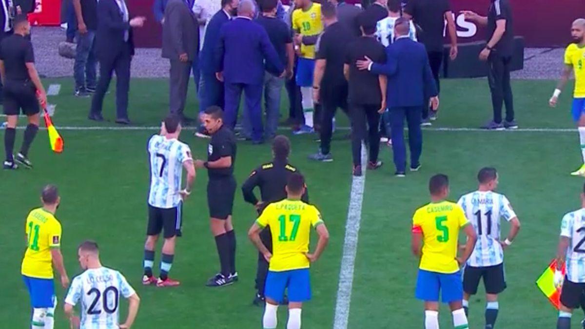 Se suspendió el partido en Brasil