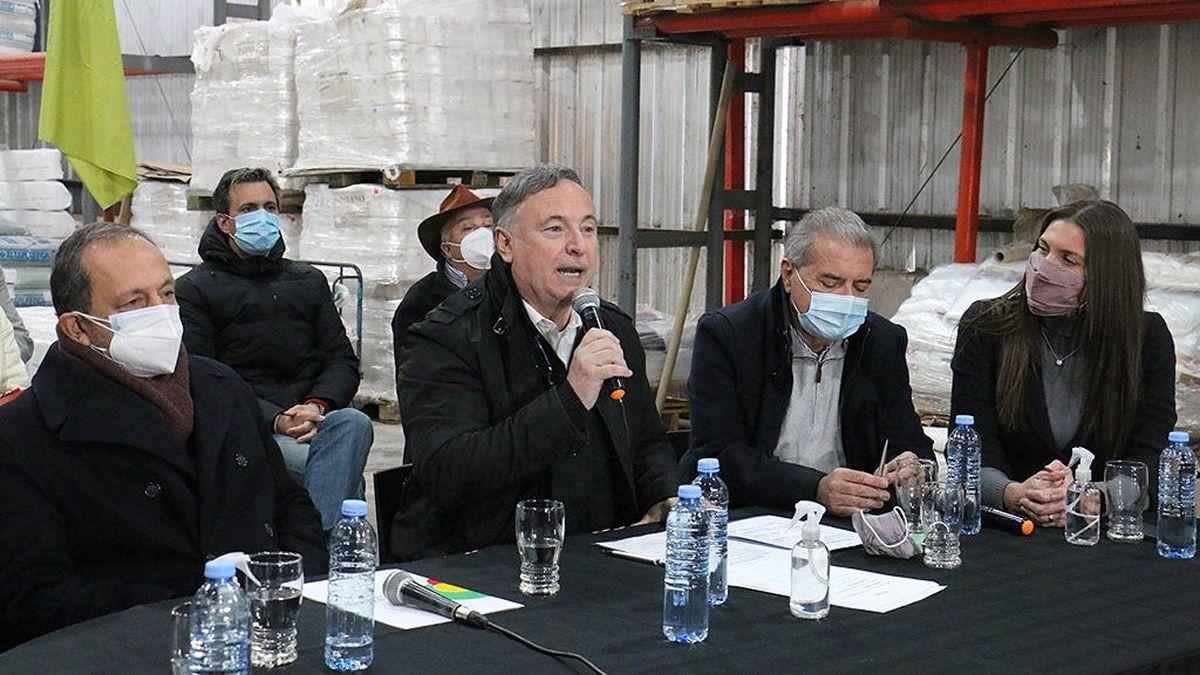 Los ministros Eduardo Accastello y Sergio Busso