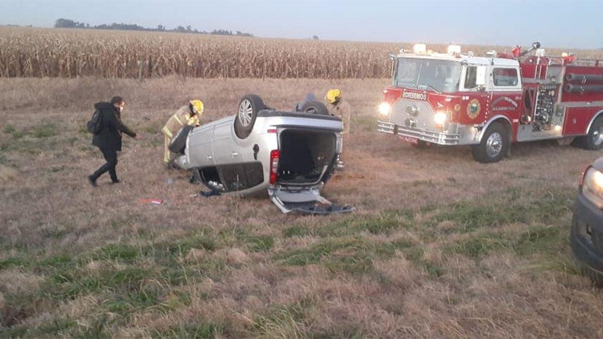 El accidente ocurrió en ruta 8