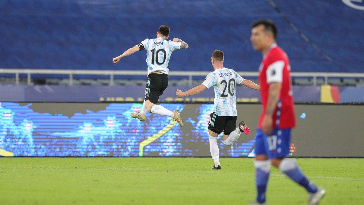 Argentina no pudo con Chile y terminó empatando.