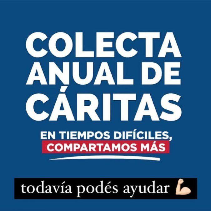 Los datos para colaborar se encuentran en facebook: @caritas.villamaria