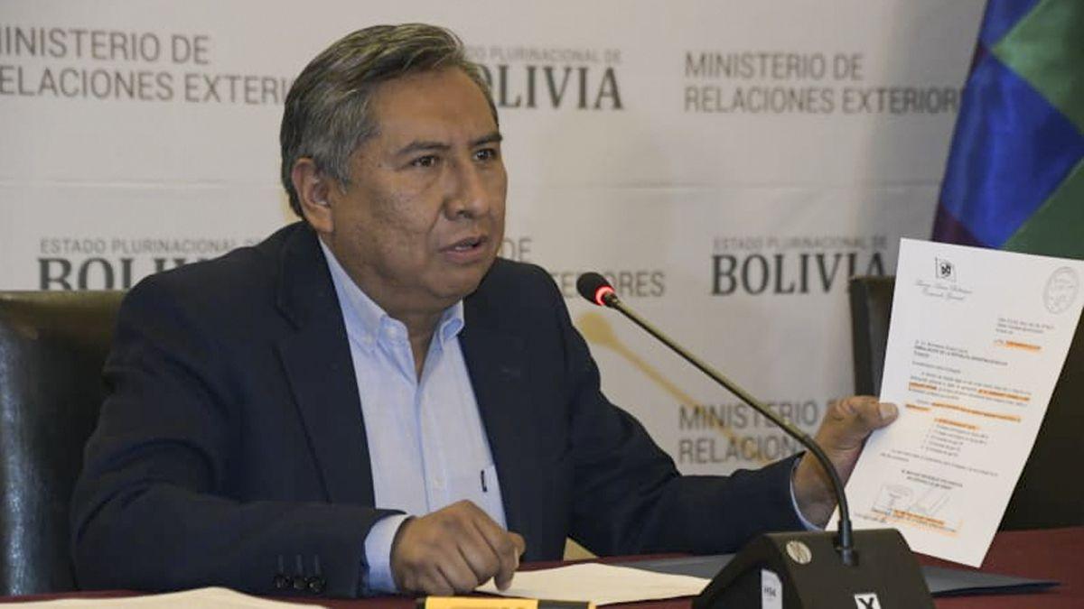 El canciller de Bolivia