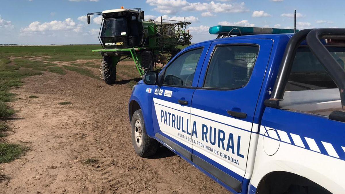 El operativo de la Patrulla Rural se realizó en un campo de Pasco.