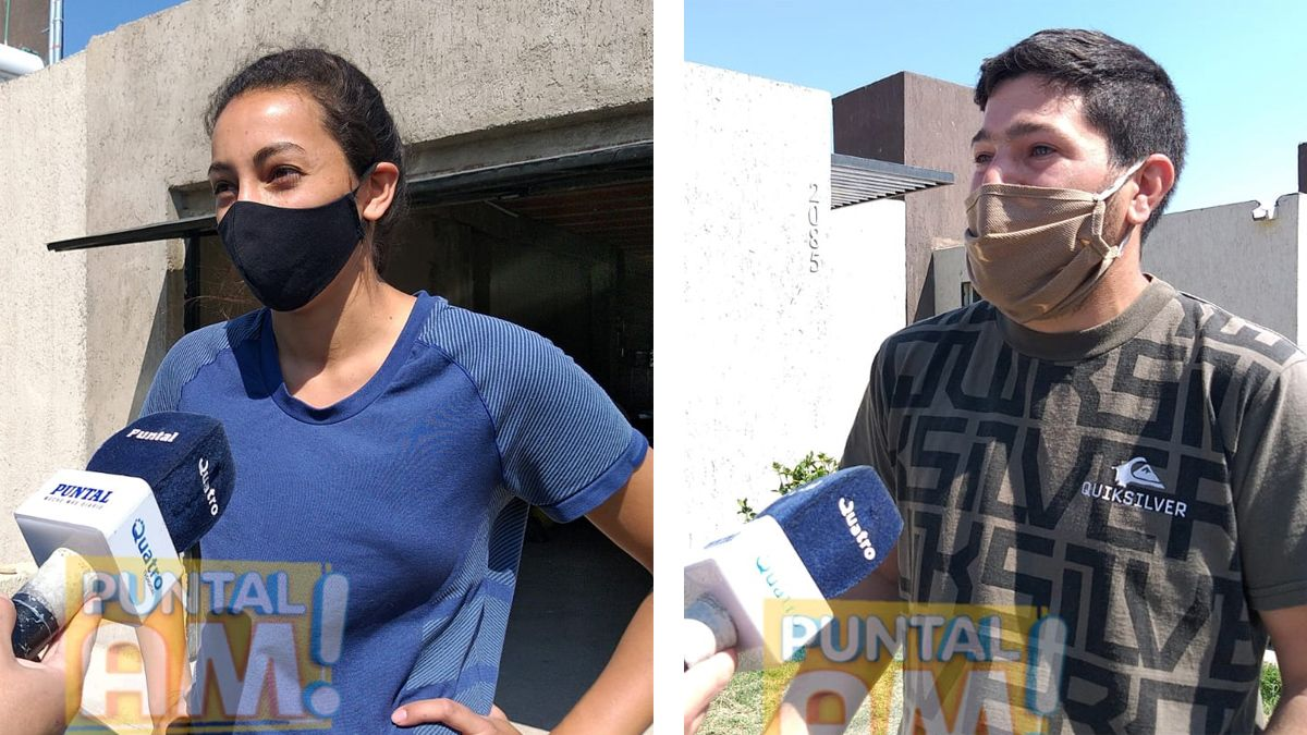 Lucila y Cristian decidieron dedicarse a lavar autos a domicilio..