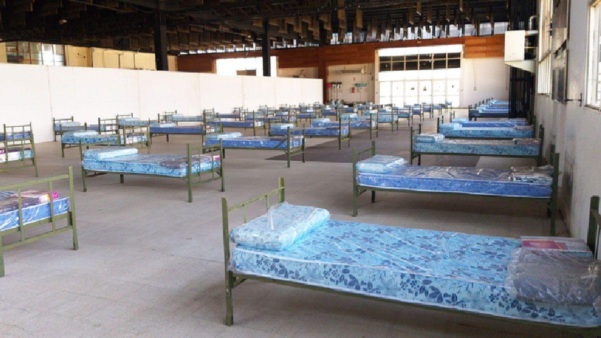 El centro de contención de la Sociedad Rural no recibió pacientes hasta el momento.