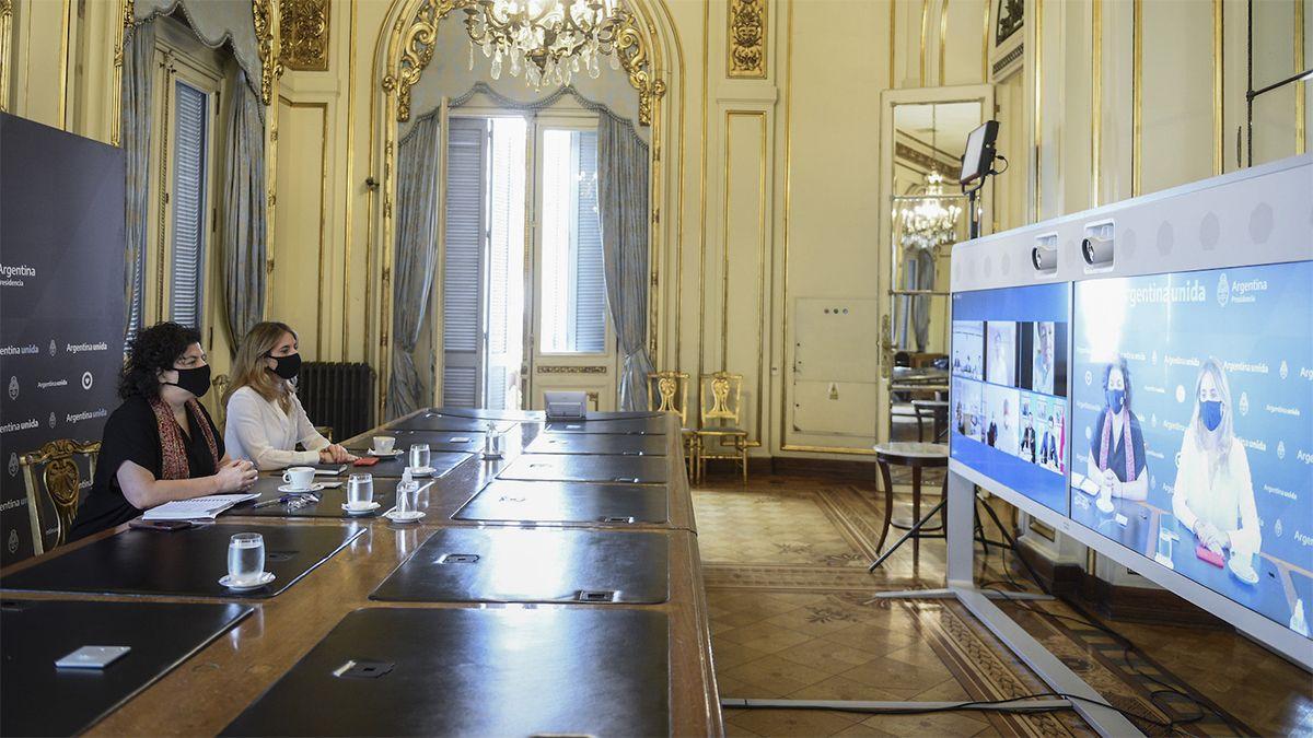 La ministra Vizzotti y Nicolini avanzan en negociaciones por las vacunas.