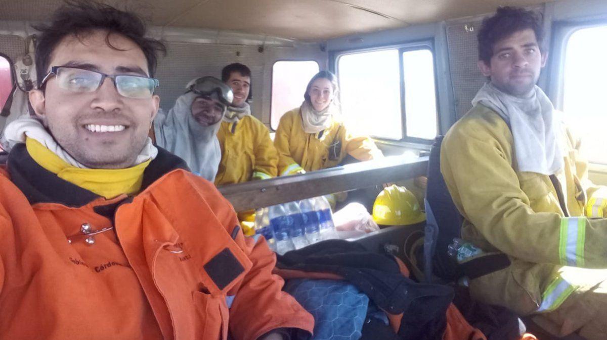 Es bombero desde los 13 y su cumpleaños 27 lo pasó combatiendo un incendio en Achiras