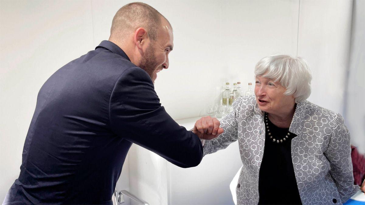 Guzmán dialogó con la secretaria del Tesoro de Estados Unidos