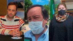 Los intendente de Bulnes, Martín Toselli; de Achiras, José María Gutiérrez, y de Suco, Flavia Bonelli, hicieron un balance del año en pandemia por el coronavirus.
