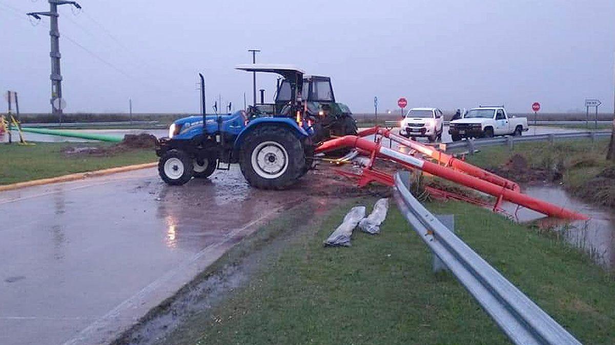 Con bombas arroceras la Provincia trabajaba para drenar los excesos hídricos.