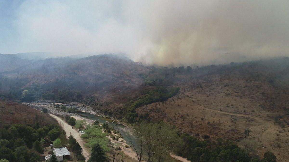 Continúan los incendios en la provincia de Córdoba.