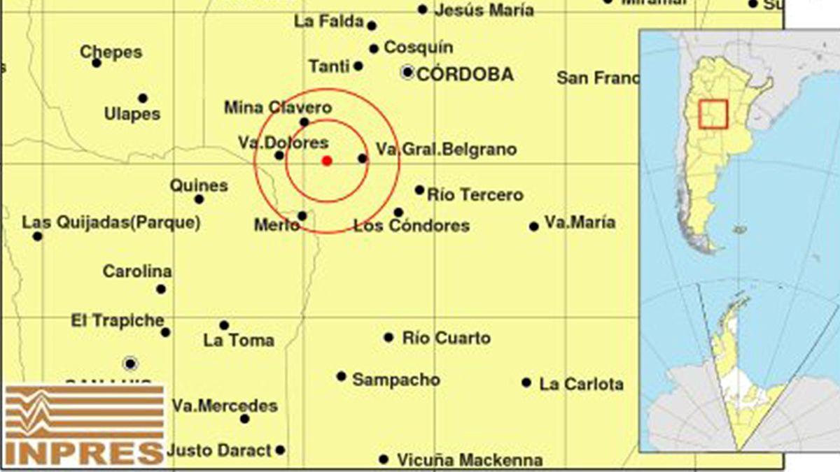 El movimiento telúrico se registró a las 12.10 de este miércoles y tuvo epicentro a unos 28 kilómetros al oeste de Villa General Belgrano.